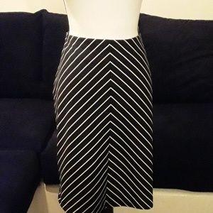 LANE BRYANT: Black and White striped skirt